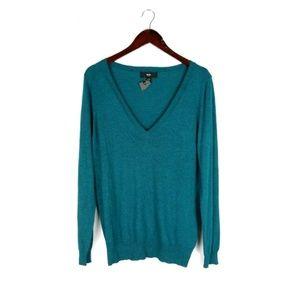 NWT Mossimo blue v-neck thin knit sweater